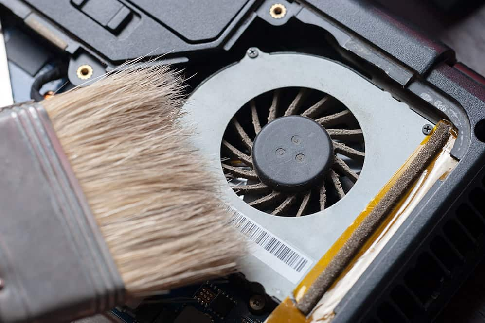 a dusty laptop fan can cause a lot of noise