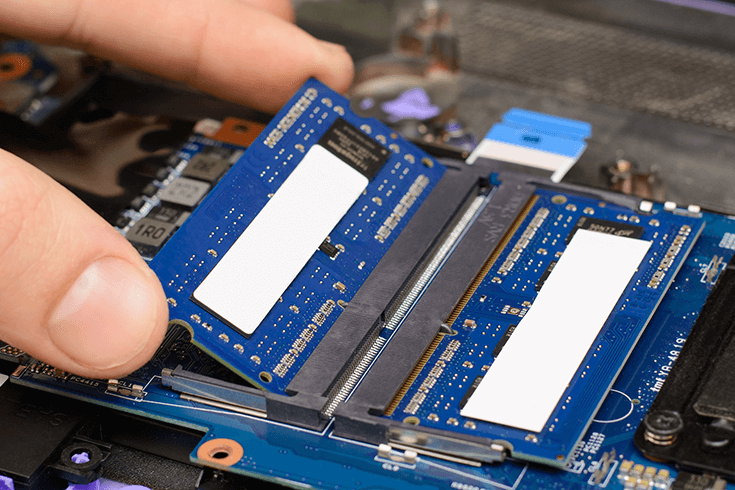 replacing a memory module in an old laptop